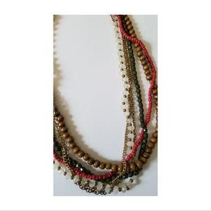 NY&Company Torsade Chain & Bead Necklace